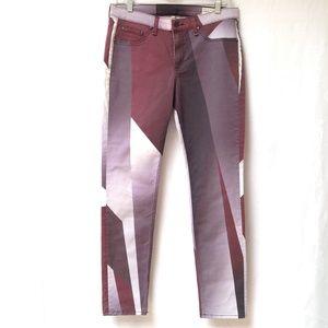 RAG & BONE Leggings Jeans Color Block 31 Cotton